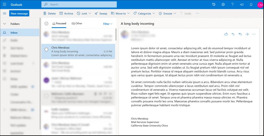 Linked e-mail