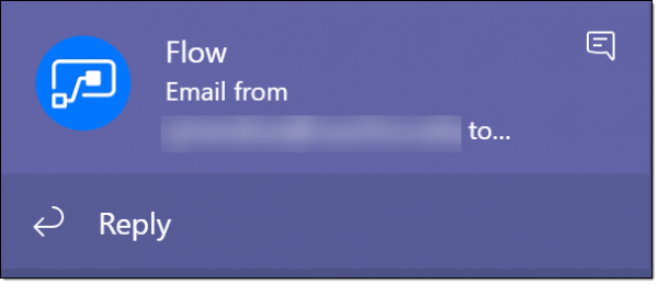 On screen notification